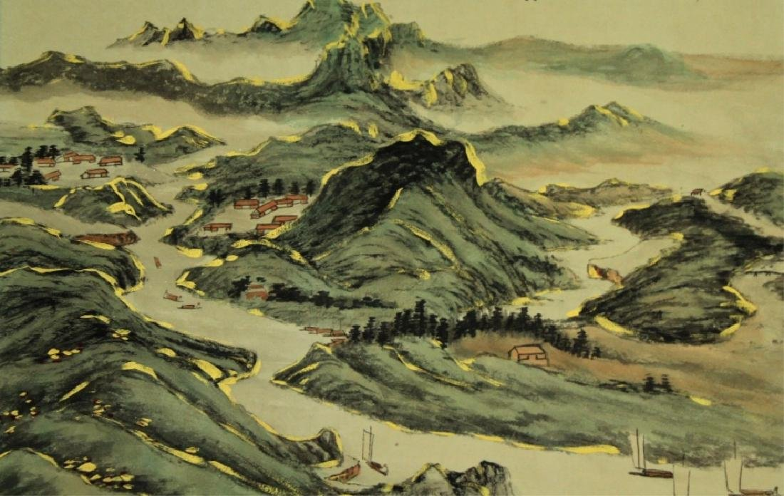 Chinese Scrolled Hand Painting Signed by Zhang Da - 5
