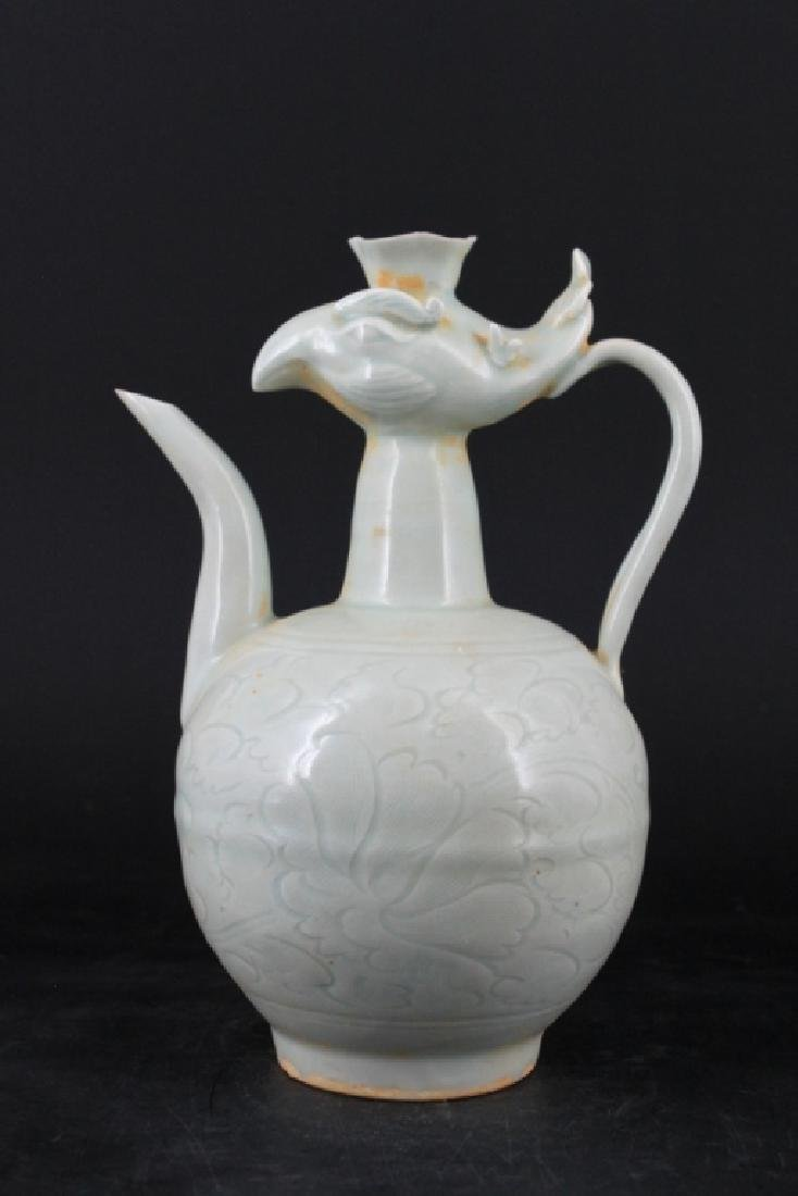 Chinese Song Porcelain Yingqing Teapot - 3