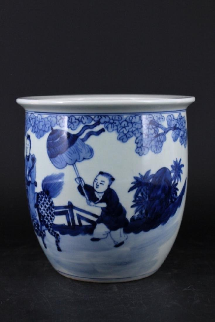 Chinese Qing Porcelain Blue White Jar - 2