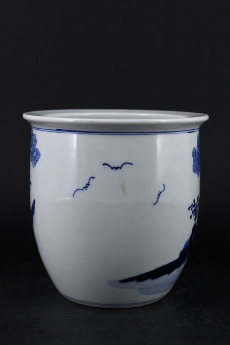 Chinese Qing Porcelain Blue White Jar - 3