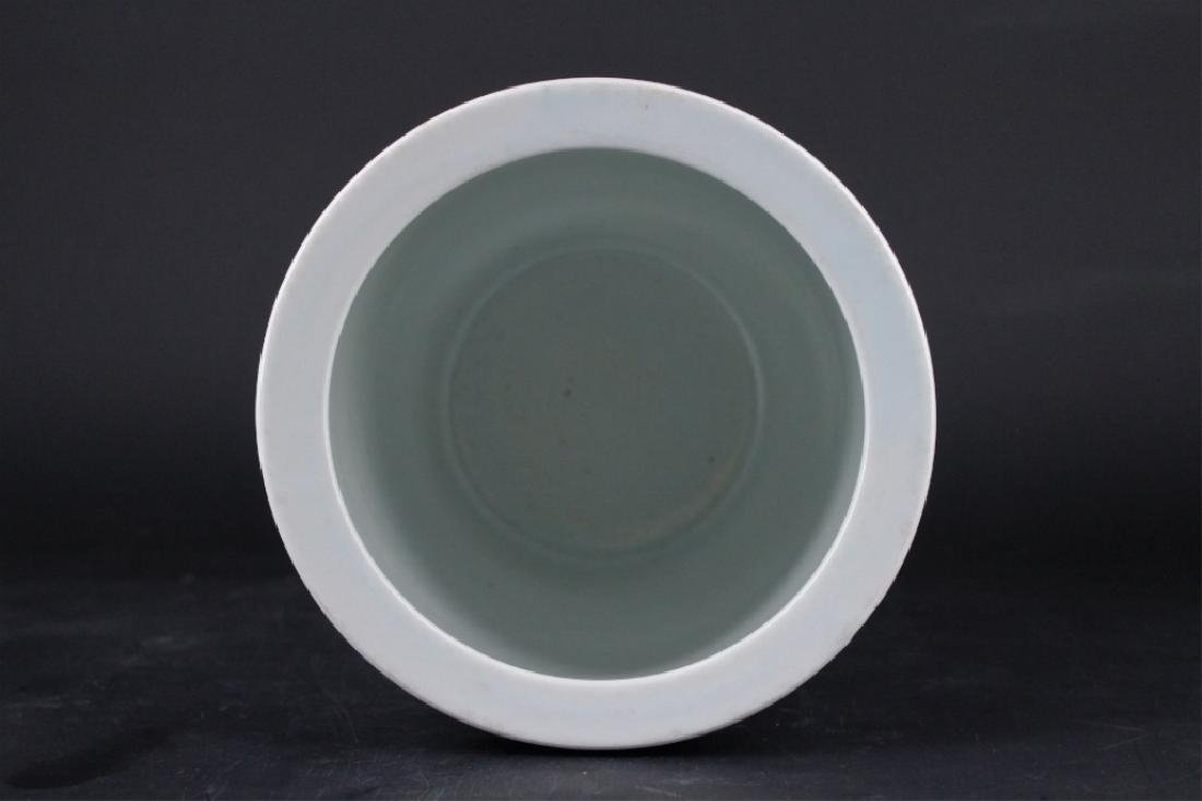 Chinese Qing Porcelain Blue White Jar - 4