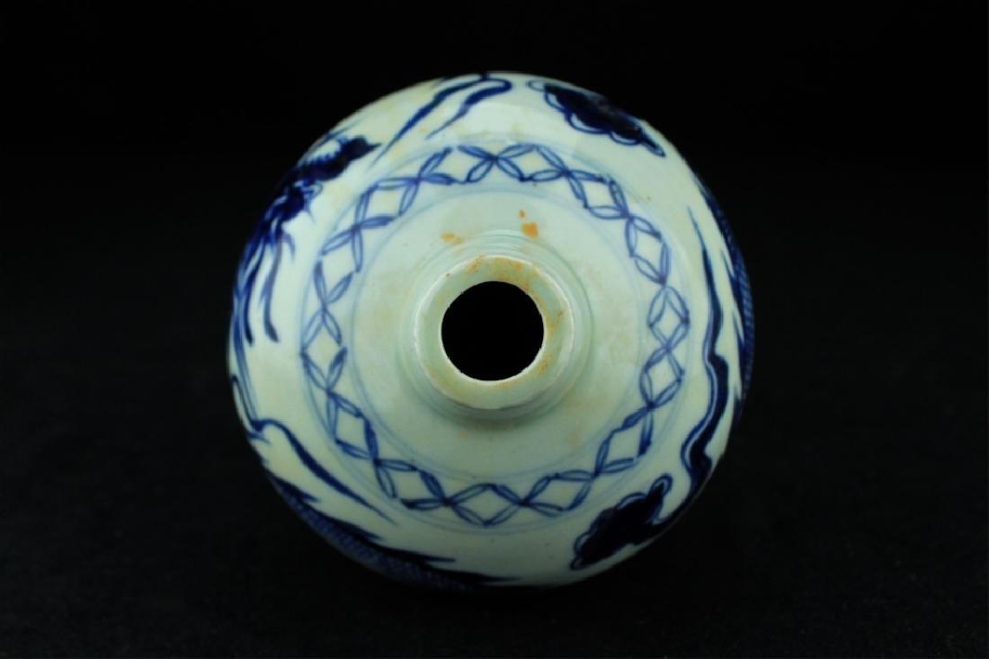 Chinese Ming Porcelain Blue&White Vase - 5