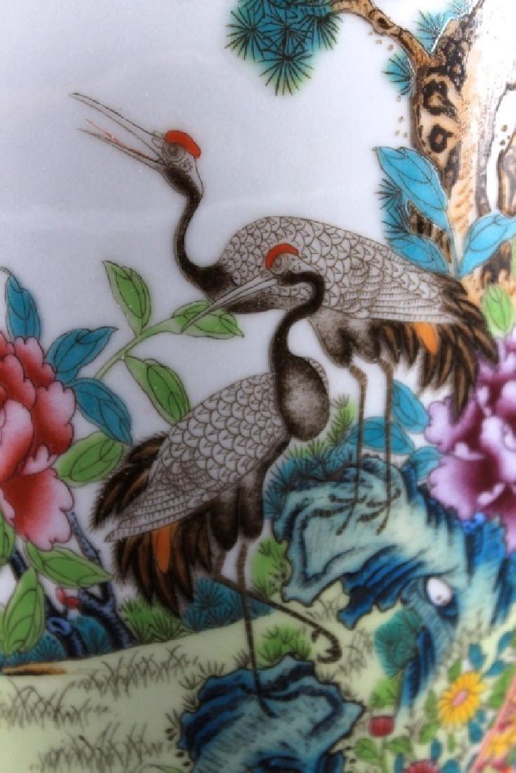 Large Chinese Qing Porcealin Famille Rose Vase - 3