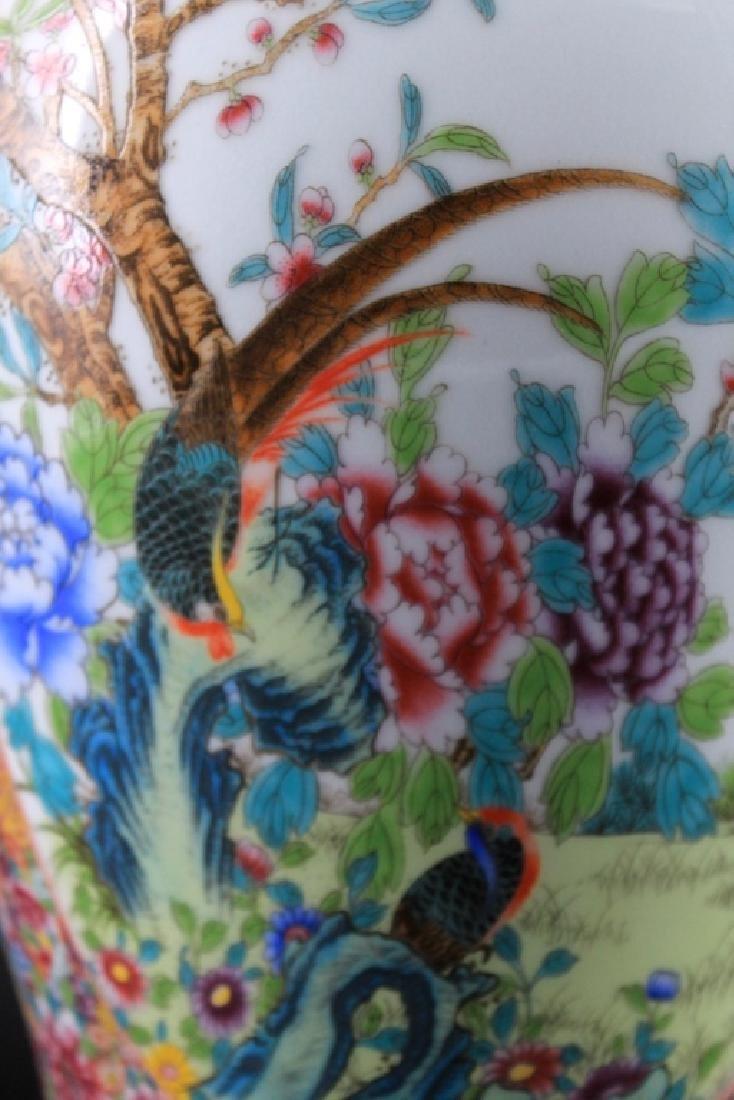 Large Chinese Qing Porcealin Famille Rose Vase - 7