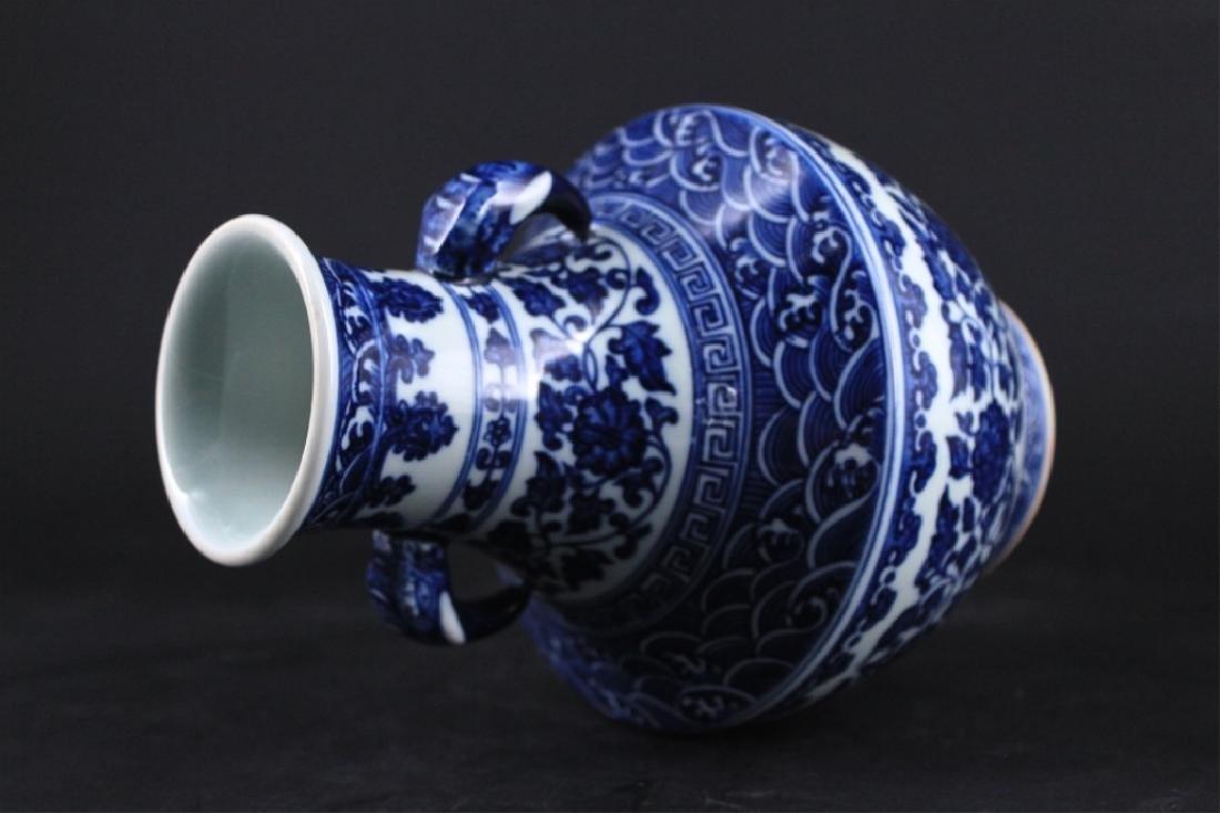 Chinese Qing Porcelain Blue&White Vase - 6