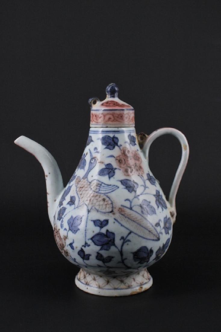 Chinese Ming Porcelain Blue&White TeaPot