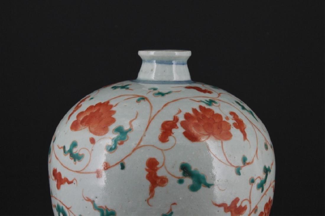 Chinese Yuan Porcelain WuCai Vase - 2