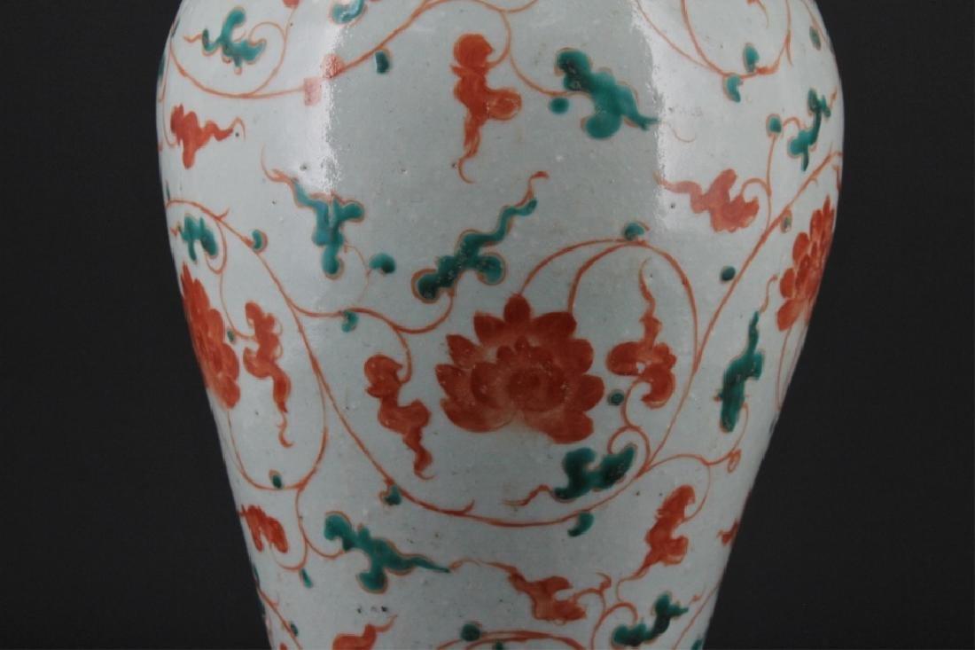 Chinese Yuan Porcelain WuCai Vase - 3