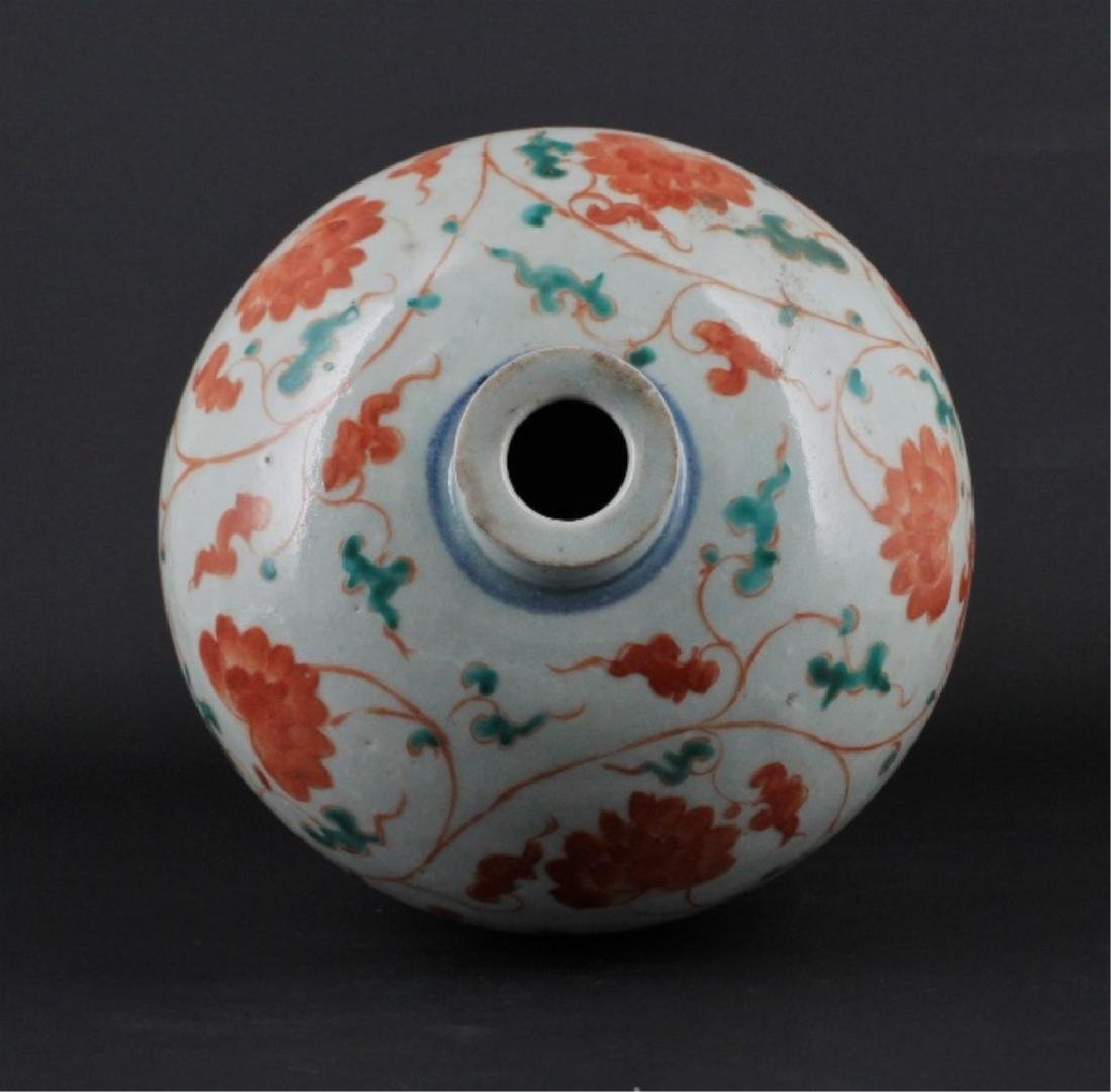 Chinese Yuan Porcelain WuCai Vase - 5
