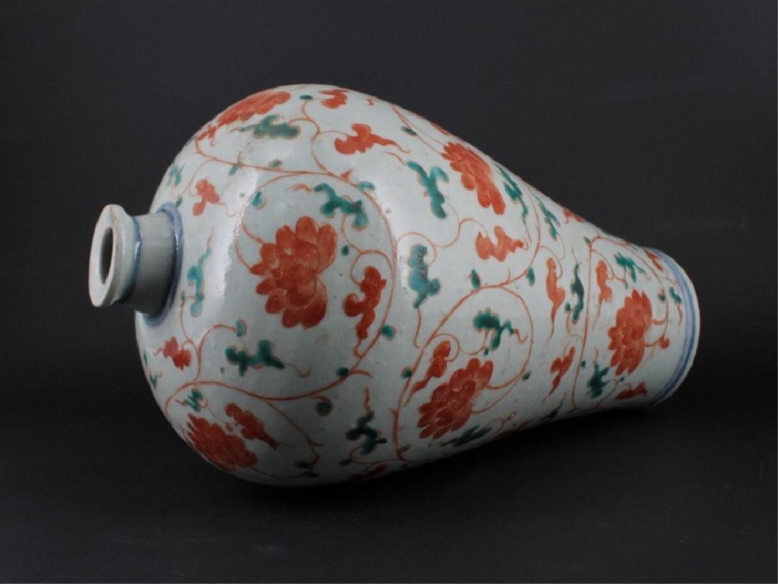 Chinese Yuan Porcelain WuCai Vase - 6