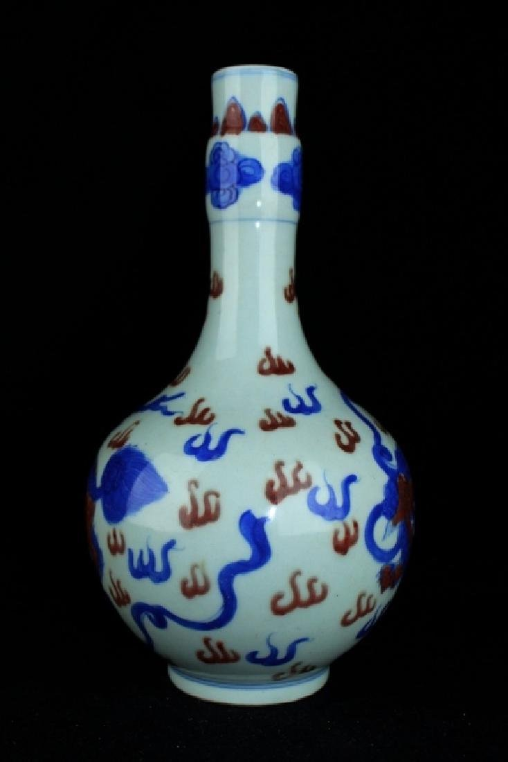 Chinese Qing Porcelain QiLin Vase - 2