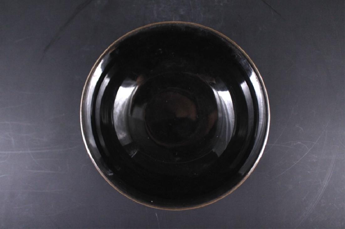 Chinese Qing Porcelain Black Glaze Bowl - 3