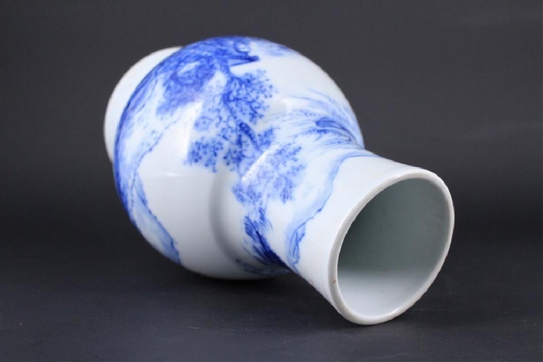 Chinese Qing Porcelain Blue&White Vase - 4