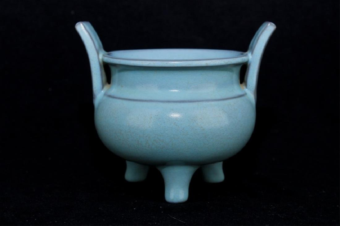 Chinese Song Porcelain RuYao Incense Burner