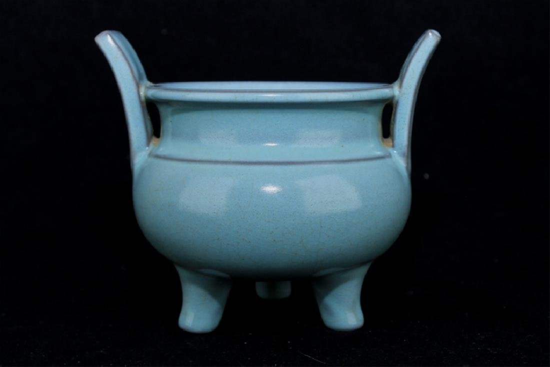 Chinese Song Porcelain RuYao Incense Burner - 3