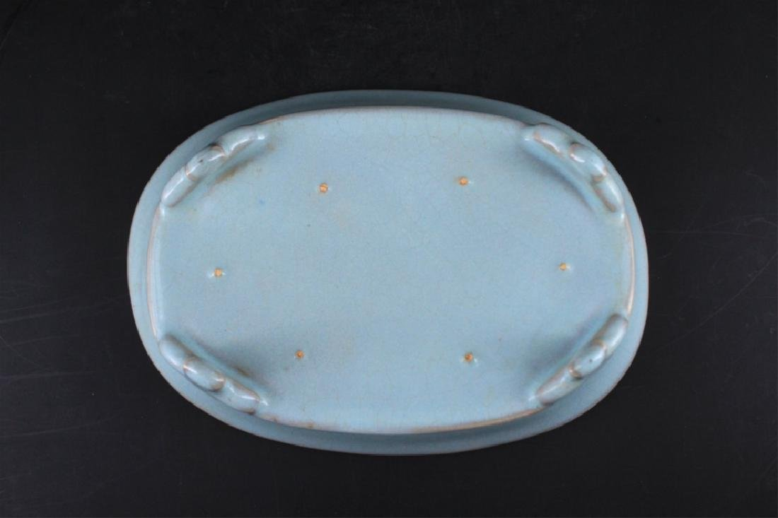 Song Porcelain Ru Yao Brush Pot - 3
