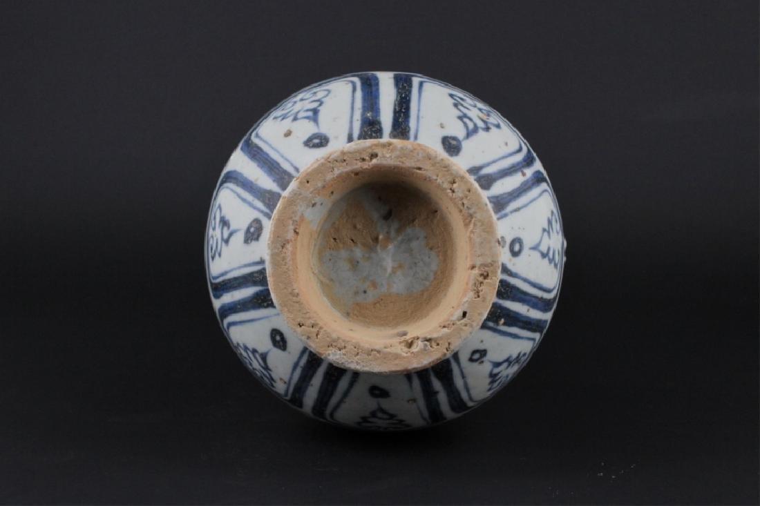 Chinese Ming Porcelain Blue&White Dragon Vase - 7