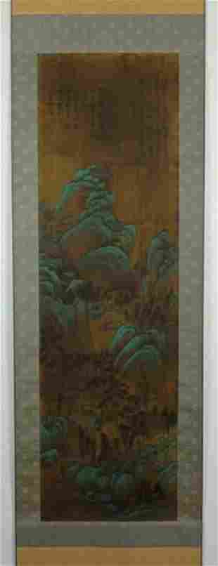 Chinese Scrolled Painting Signed by Wang Shi Min
