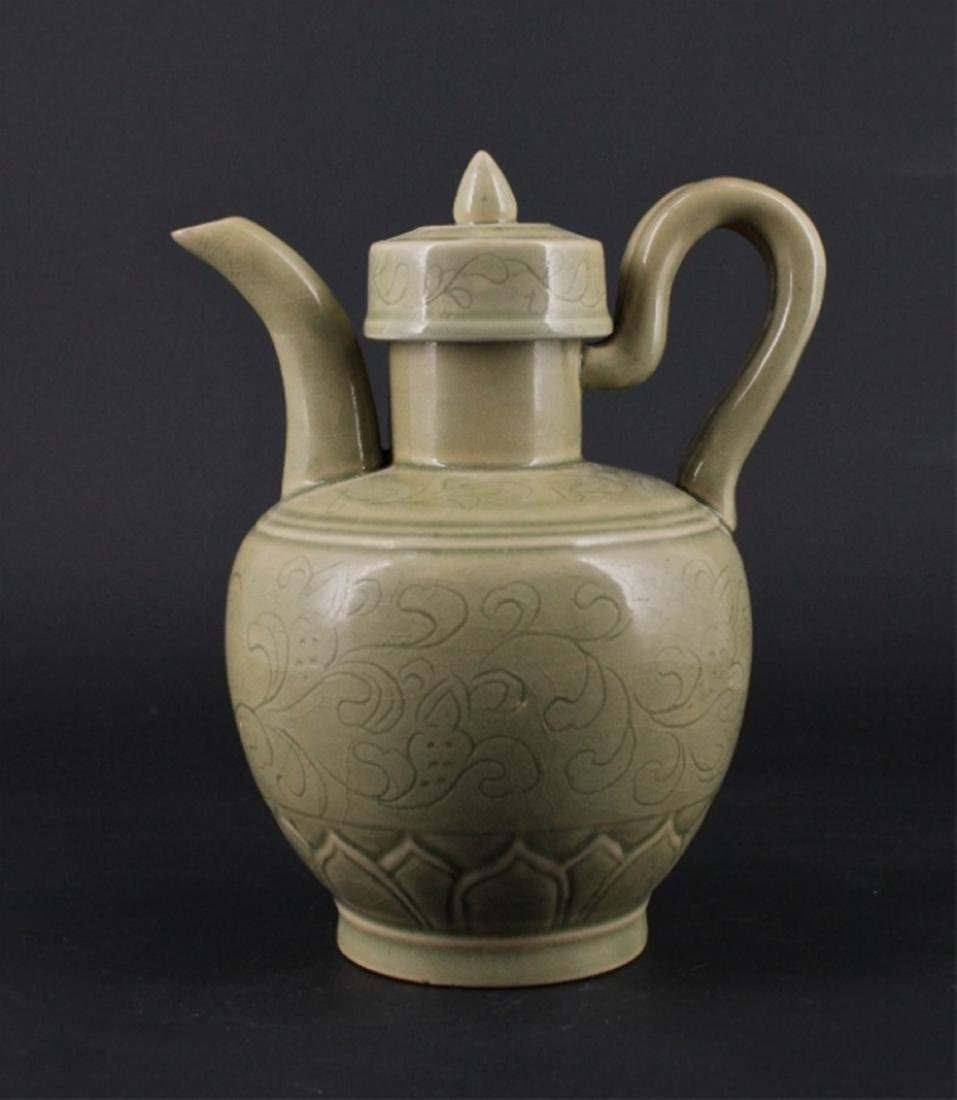 Chinese Song Porcelain YueYao TeaPot with Lid