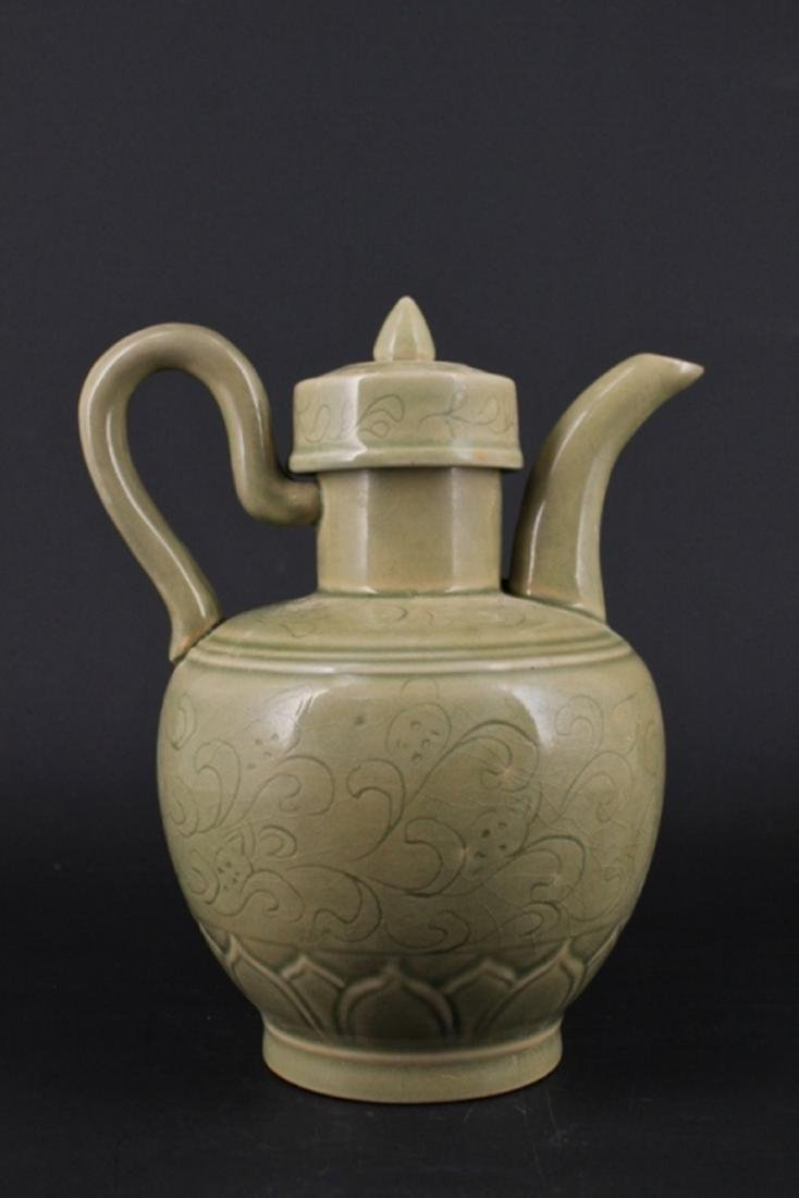 Chinese Song Porcelain YueYao TeaPot with Lid - 5