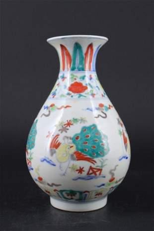 Chinese Ming Porcelain DouCai Vase