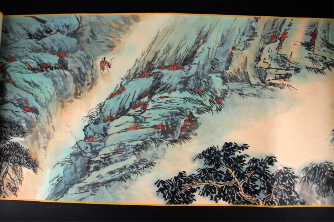 Chinese Long Scrolled Painting By Zhang Da Qian - 5