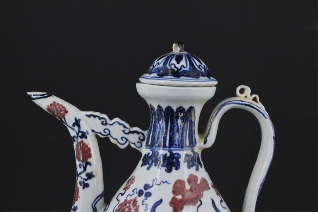 Chinese Ming Porcelain Blue&White TeaPot - 2