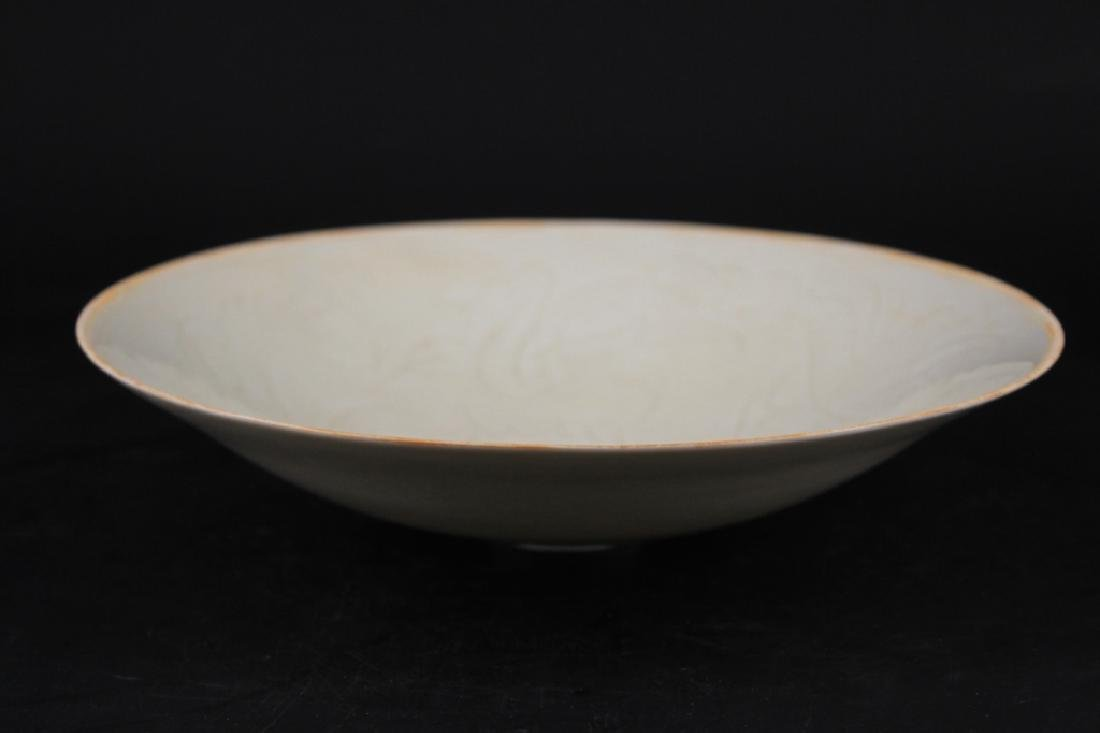 Chinese Song Porcelain Dingyao Plate - 4