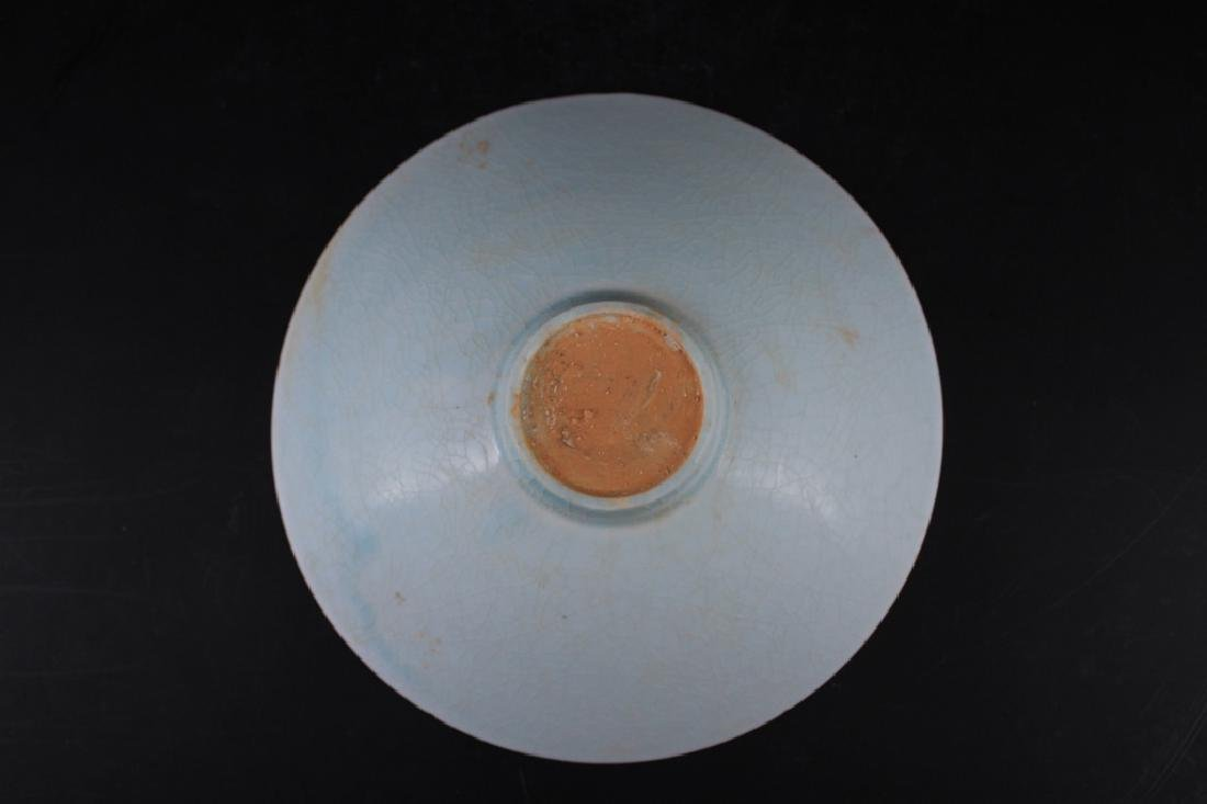 Chinese Song Porcelain Crackle Plate - 3