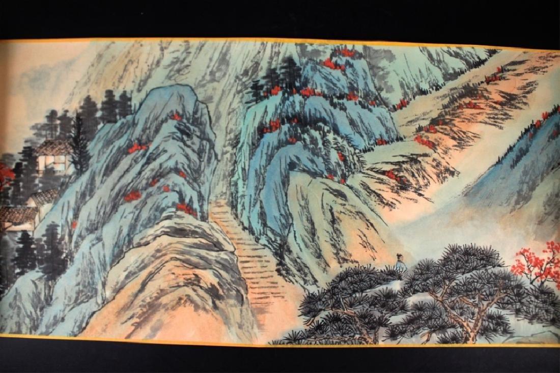 Chinese Long Scrolled Painting By Zhang Da Qian - 4