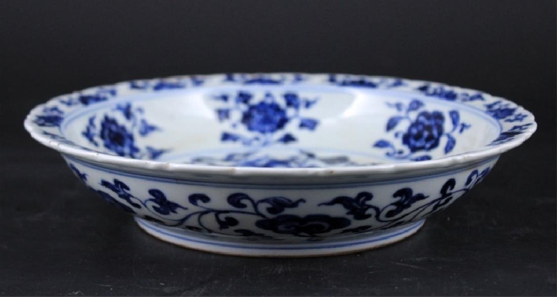 Chinese Ming Porcelain Blue&White Dragon Plate - 4