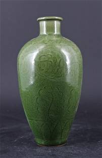 Chinese Qing Porcelain LongQuan Vase