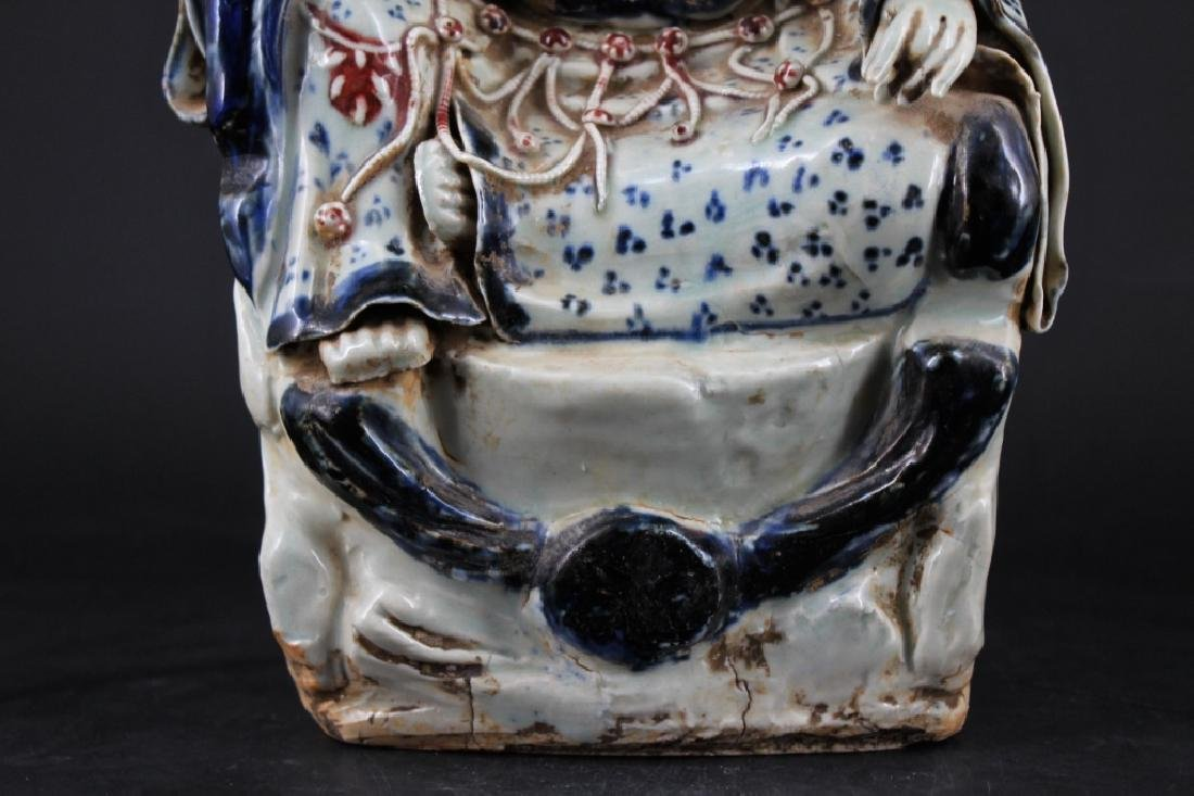 Large Chinese Ming Porcelain Blue&White GuanYin - 4