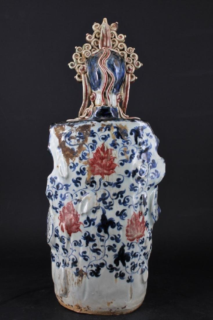 Large Chinese Ming Porcelain Blue&White GuanYin - 6