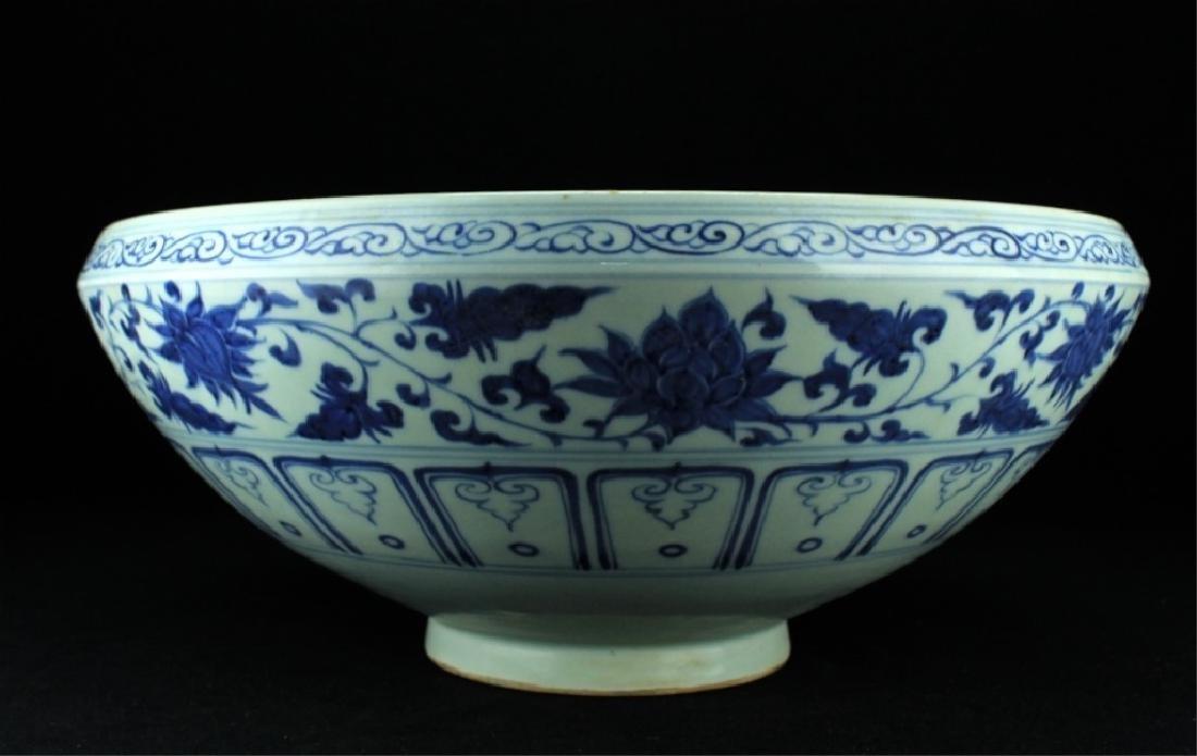 Large Chinese Ming Porcelain Blue&White Bowl - 2