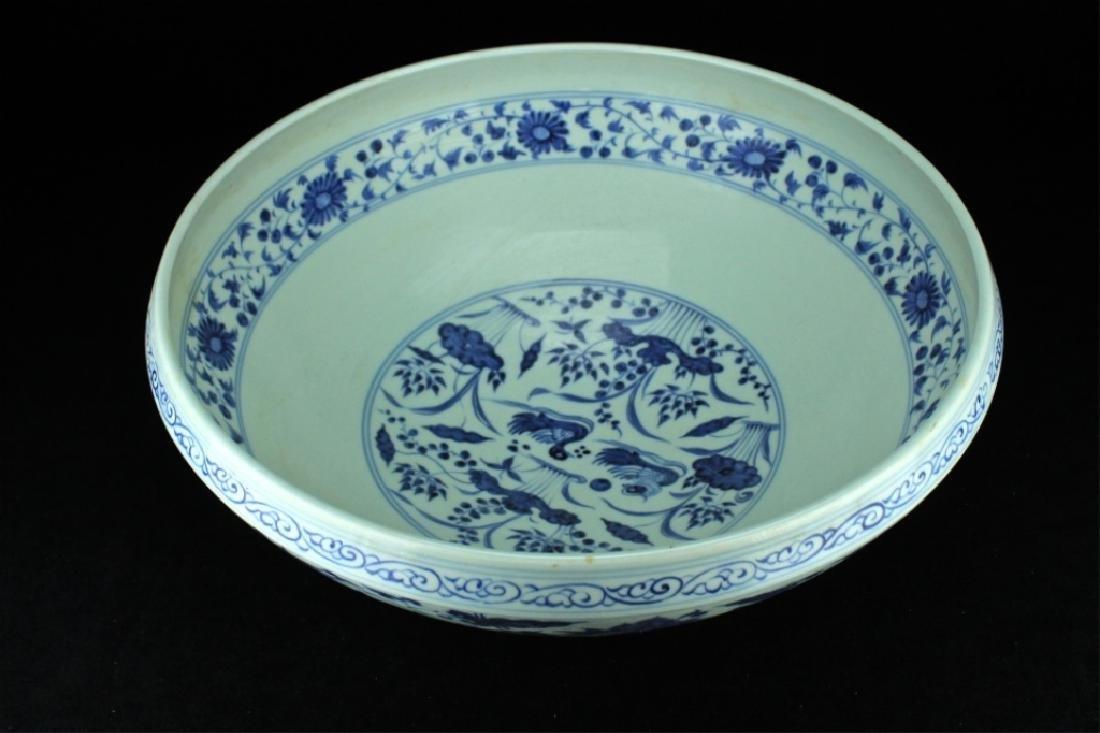 Large Chinese Ming Porcelain Blue&White Bowl - 3