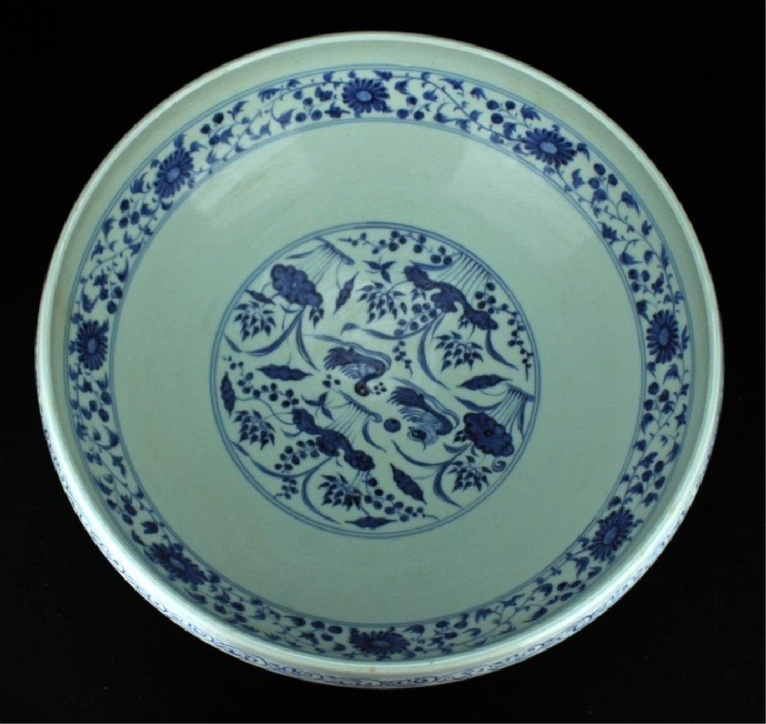 Large Chinese Ming Porcelain Blue&White Bowl - 4
