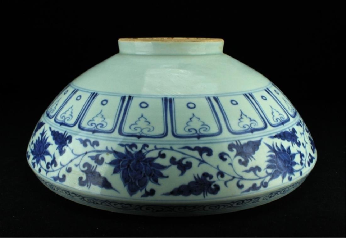 Large Chinese Ming Porcelain Blue&White Bowl - 8