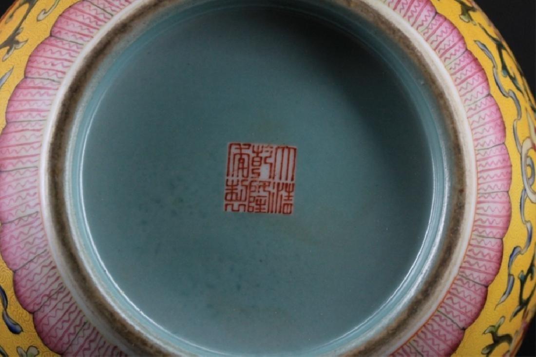 Large Chinese Qing Porcelain Famille Rose Gourd Va - 9