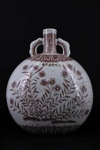Ming Porcelain Underred Moon Flask