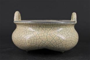Song Porcelain Geyao Brush Pot