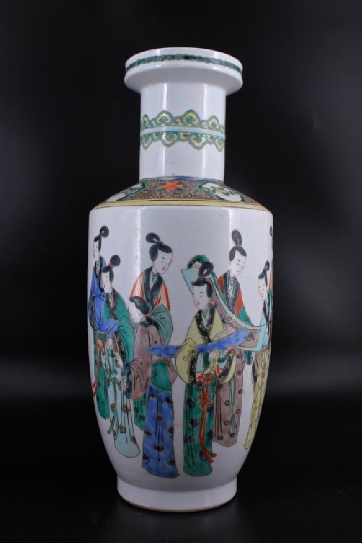 Large Late Qing Porcelain Famille Rose Vase