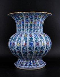 Qing Porcelain Guan Yao DouCai Vase