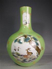 Qing Porcelain Famille Rose Vase