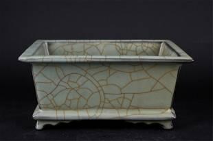 Chinese Song Porcelain Guan Yao Pot