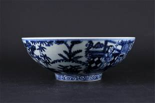 Chinese Ming Porcelain BlueWhite Bowl