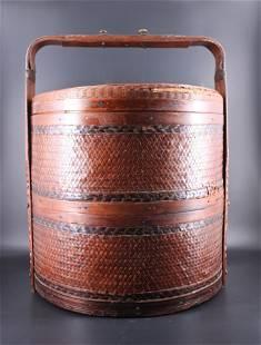 Large Bamboo Food Basket