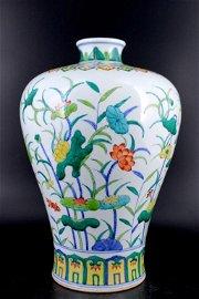 Qing DouCai Floral Vase