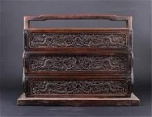 Chinese Qing Three-Layer Wooden Box