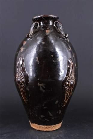 Chinese Song Porcelain Black Vase
